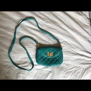 Teal Quilted Steve Madden CrossBody Bag